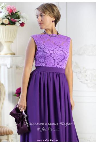 Фиолетовое платье с кружевом в Киеве - Фото 5