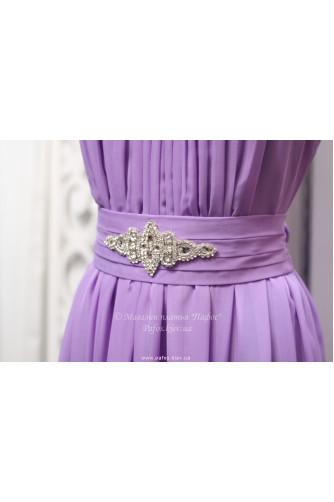 Фиолетовое платье с брошью в Киеве - Фото 3