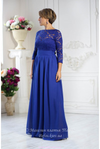 Синее платье электрик фото