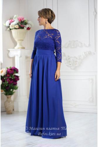 Синее платье электрик в Киеве - Фото 1