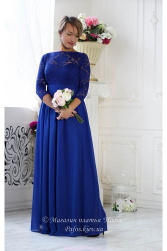 Синее платье электрик в Киеве - Фото 2
