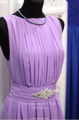 Фиолетовое платье с брошью в Киеве - Фото 2
