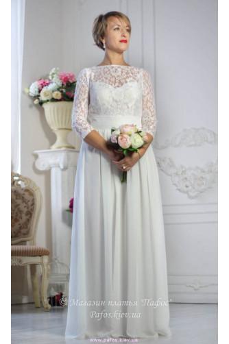 Белое платье с рукавом в Киеве - Фото 3
