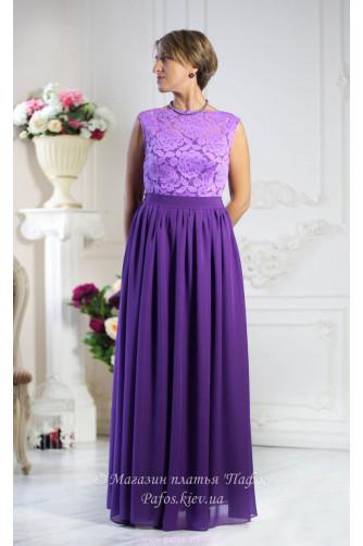 Фиолетовое платье с кружевом в Киеве - Фото 1