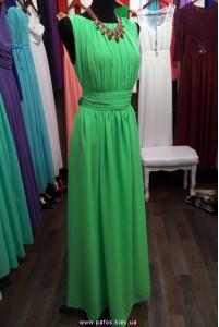 Ярко зелёное платье фото