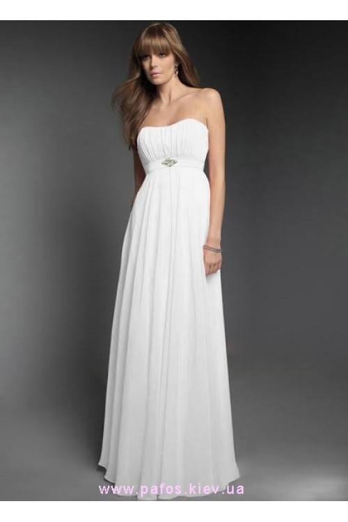 Длинное белое платье доставка