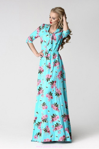 Длинные летние платья в цветочек