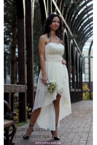 Короткое свадебное платье в Киеве - Фото 4