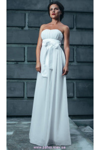 Шифоновое платье без бретелей фото