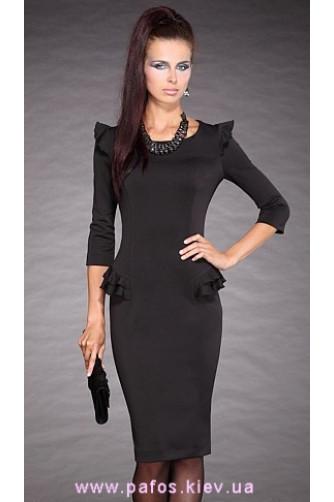 Трикотажное черное платье в Киеве - Фото 2