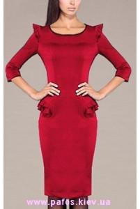 Красное платье офисное фото