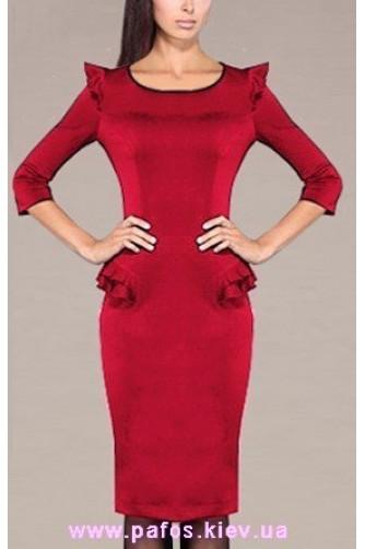 Красное платье офисное в Киеве - Фото 1