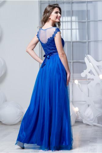 Синее платье с фатиновой юбкой в Киеве - Фото 3