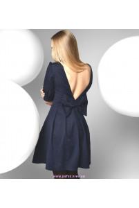 Синее коктейльное платье фото