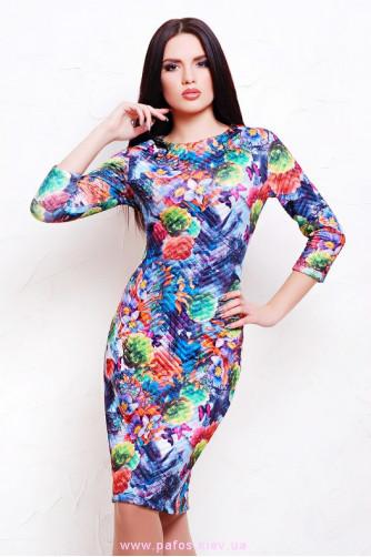 Нарядное трикотажное платье в Киеве - Фото 1