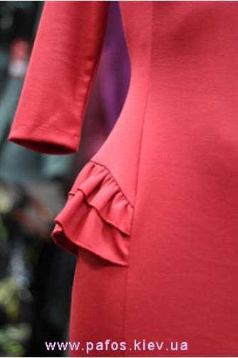 Красное платье офисное в Киеве - Фото 4