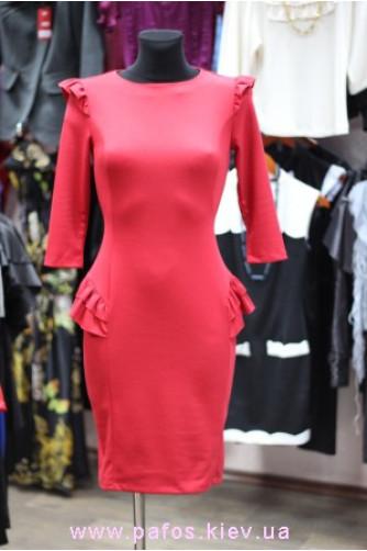 Красное платье офисное в Киеве - Фото 2