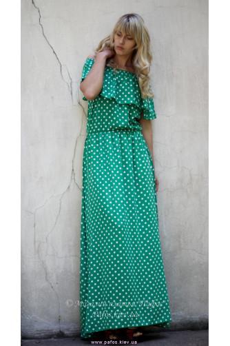 Зеленое платье в горошек в Киеве - Фото 3