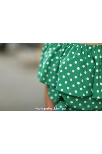 Зеленое платье в горошек в Киеве - Фото 5