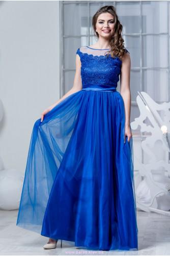 Синее платье с фатиновой юбкой в Киеве - Фото 2