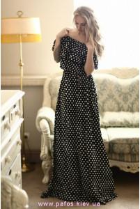 Длинное платье в горошек фото