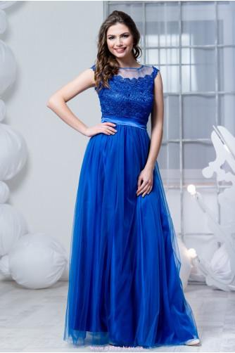 Синее платье с фатиновой юбкой в Киеве - Фото 1
