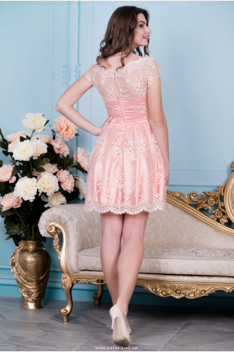 Нарядное персиковое платье в Киеве - Фото 3