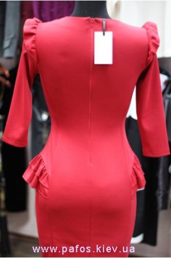Красное платье офисное в Киеве - Фото 3