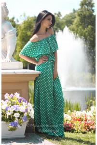 Модное платье в горошек фото