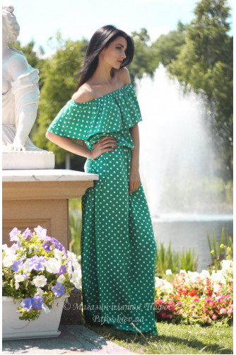Модное платье в горошек в Киеве - Фото 1