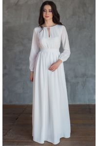 Элегантное свадебное платье с длинным рукавом фото