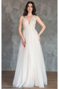 Красивое свадебное платье шампань фото