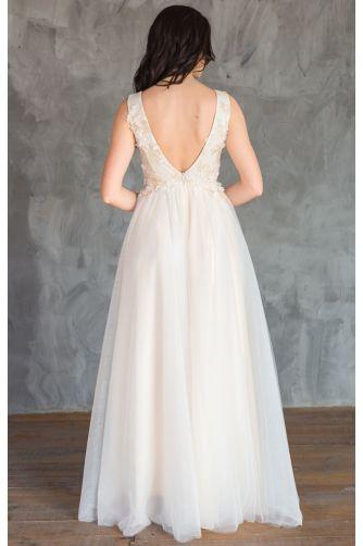 Красивое свадебное платье шампань в Киеве - Фото 3