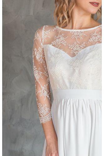 Нежное свадебное платье с рукавом в Киеве - Фото 2