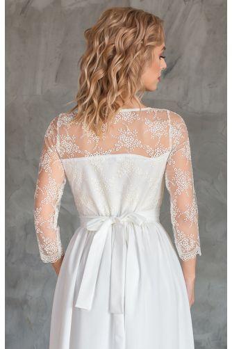 Нежное свадебное платье с рукавом в Киеве - Фото 3