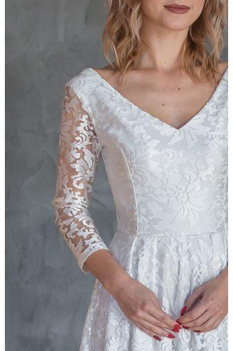 Свадебное платье с рукавом три четверти в Киеве - Фото 2