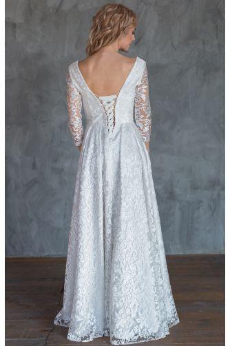 Свадебное платье с рукавом три четверти в Киеве - Фото 3