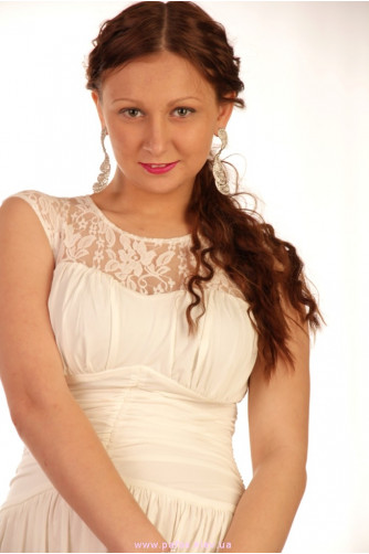 Молочное платье длинное с разрезом в Киеве - Фото 8