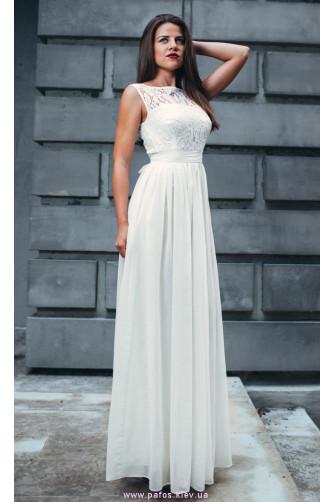 c19c10e4846c Белое кружевное платье в пол купить - Интернет магазин Пафос Киев