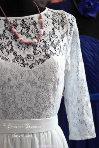 Свадебное платье с рукавами в Киеве - Фото 2