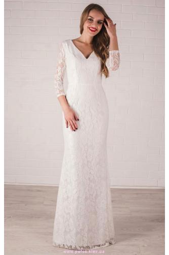 Белое платье в пол в Киеве - Фото 1