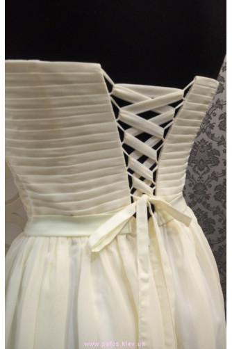 Молочное корсетное платье в Киеве - Фото 4