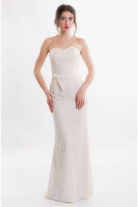 Открытое свадебное платье фото