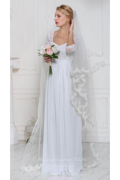 e29ea55276ad9b7 Белое платье в пол купить (Киев и Украина) | Интернет магазин Пафос