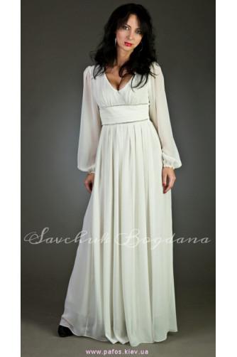 7ba7ebf3a163d Длинное белое платье с рукавами купить (Киев и Украина) | Интернет ...
