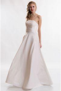 Свадебное платье без бретелей фото