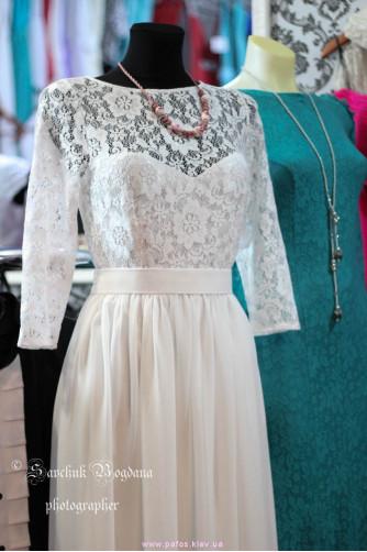 Свадебное платье с рукавами в Киеве - Фото 3