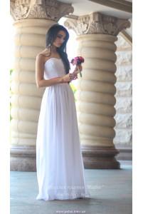 Белое корсетное платье фото