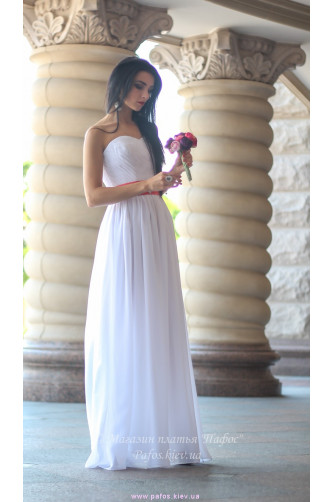Белое корсетное платье в Киеве - Фото 1