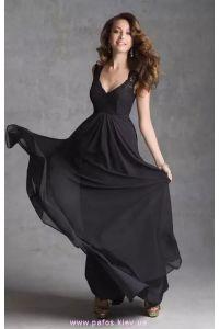 Черное платье с гипюром фото